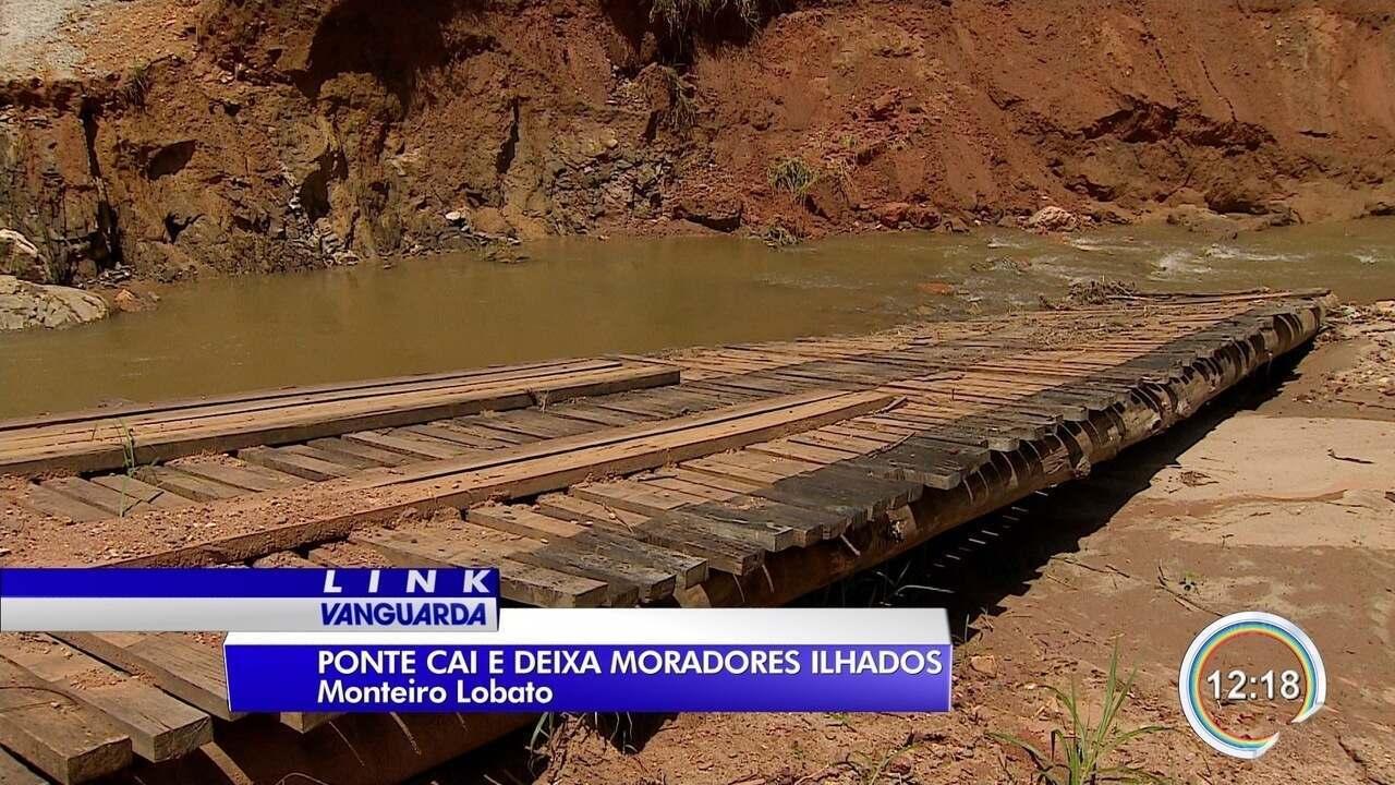Moradores da zona rural de Monteiro Lobato estão ilhados