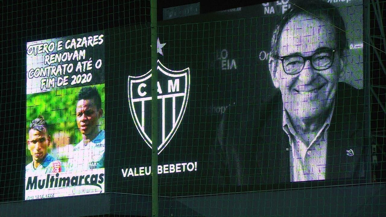 Torcedores e jogadores prestam homenagem a Bebeto de Freitas