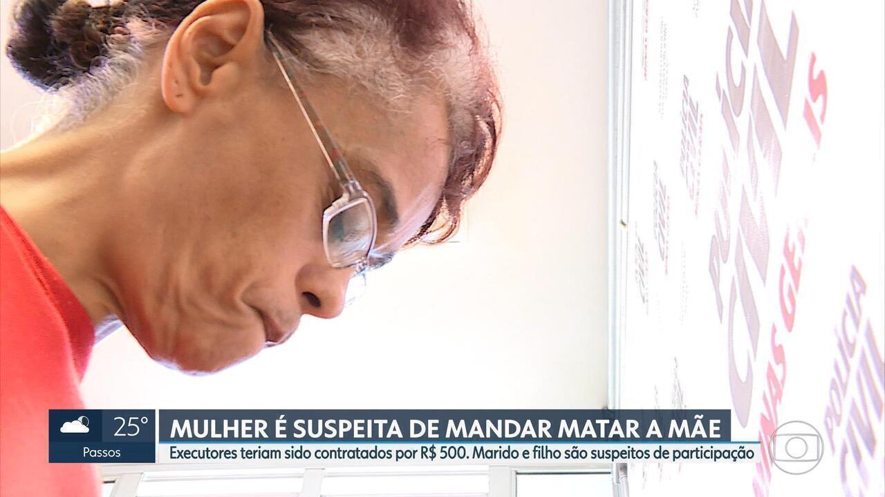 Suspeita de mandar matar mãe para ficar com herança é presa