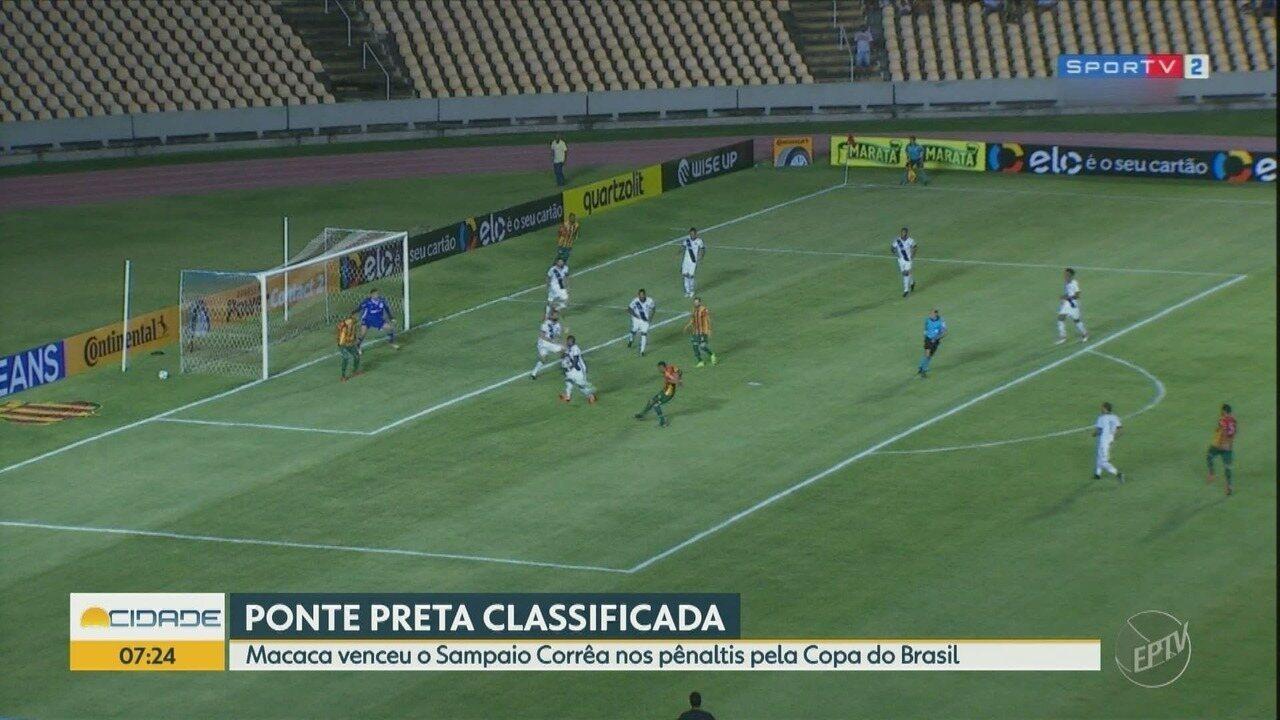 Nos pênaltis, Ponte Preta vence o Sampaio Corrêa e avança na Copa do Brasil