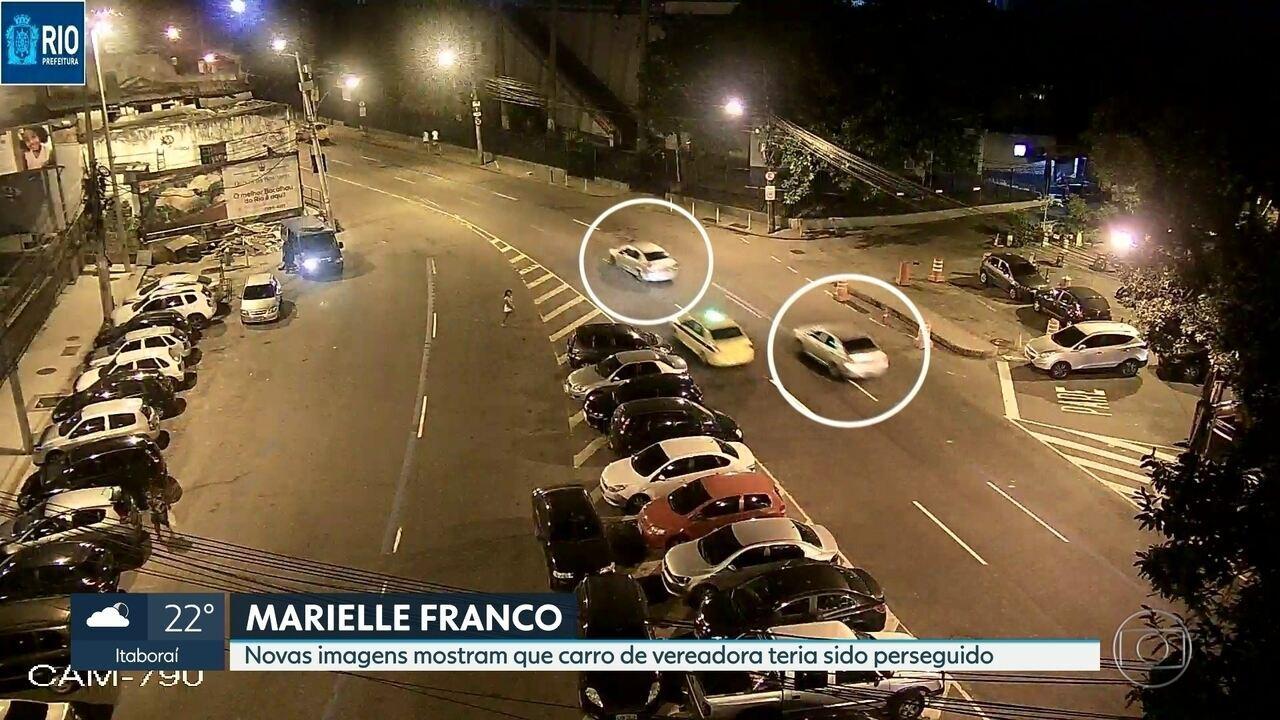 Imagens exclusivas mostram possível perseguição ao carro onde estava Marielle Franco