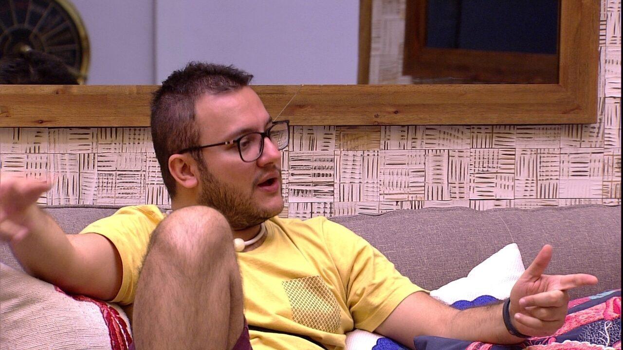 Diego lembra conflito envolvendo brothers, Lucas e Nayara