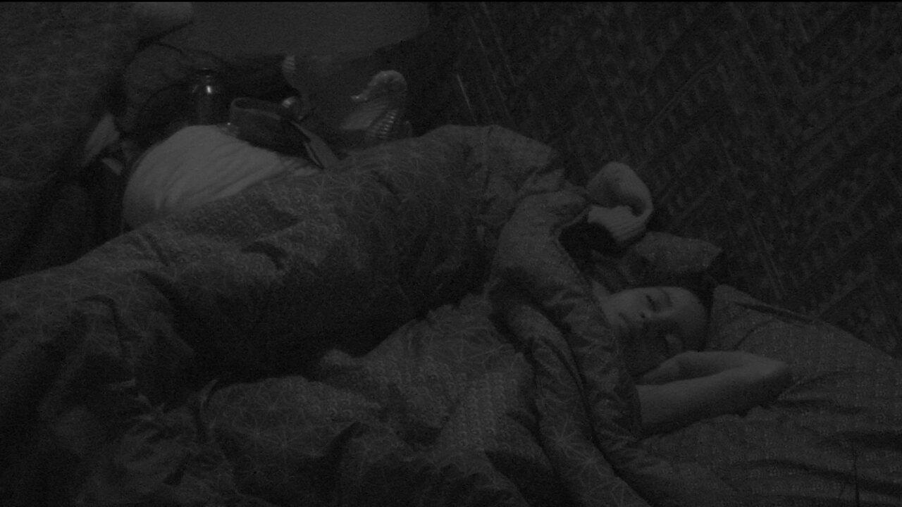 Ana Clara, Ayrton, Gleici e Wagner dormem no Bangalô do Líder