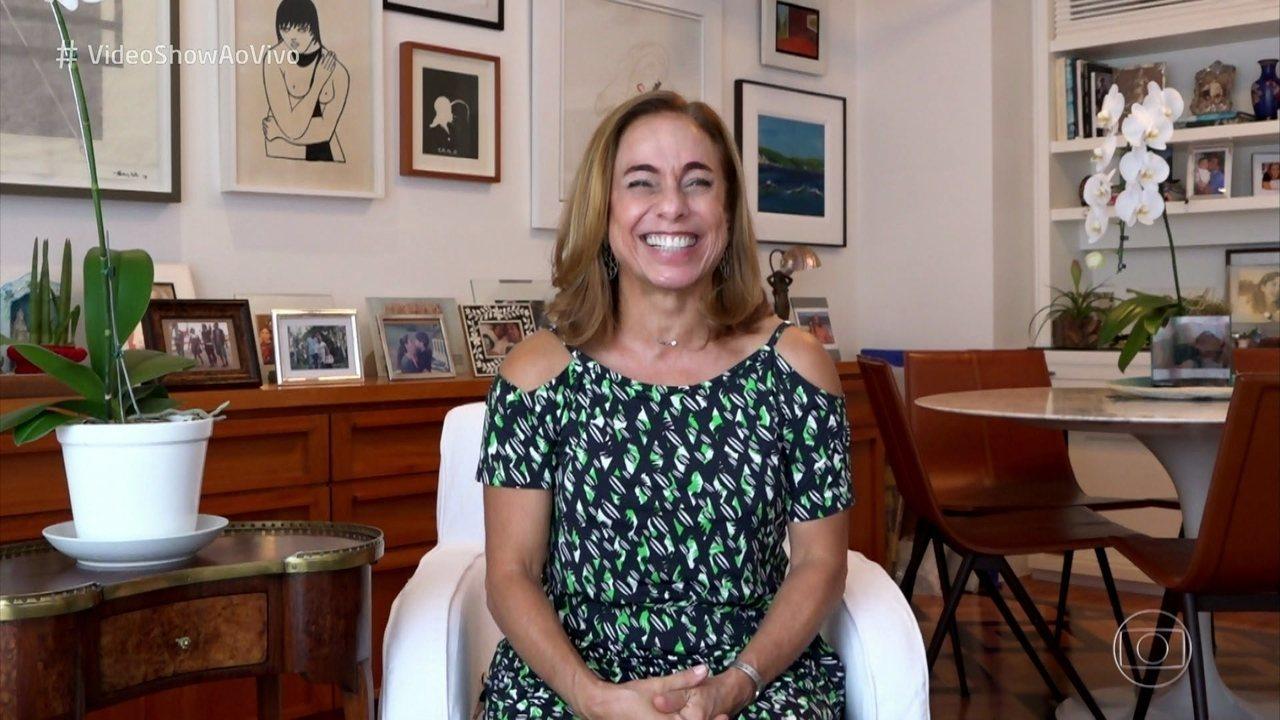 Cissa Guimarães relembra estreia no 'Vídeo Show'