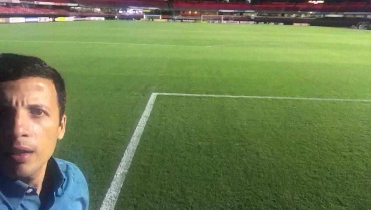Repórter André Hernan mostra as condições do campo do Morumbi para o jogo do São Paulo