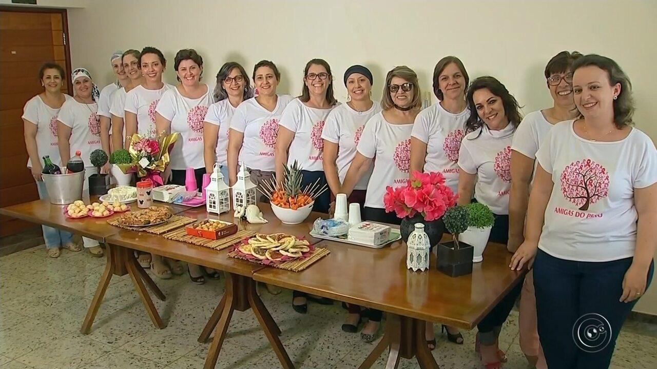 Mulheres com câncer de mama se unem para trocar experiências em Jaú