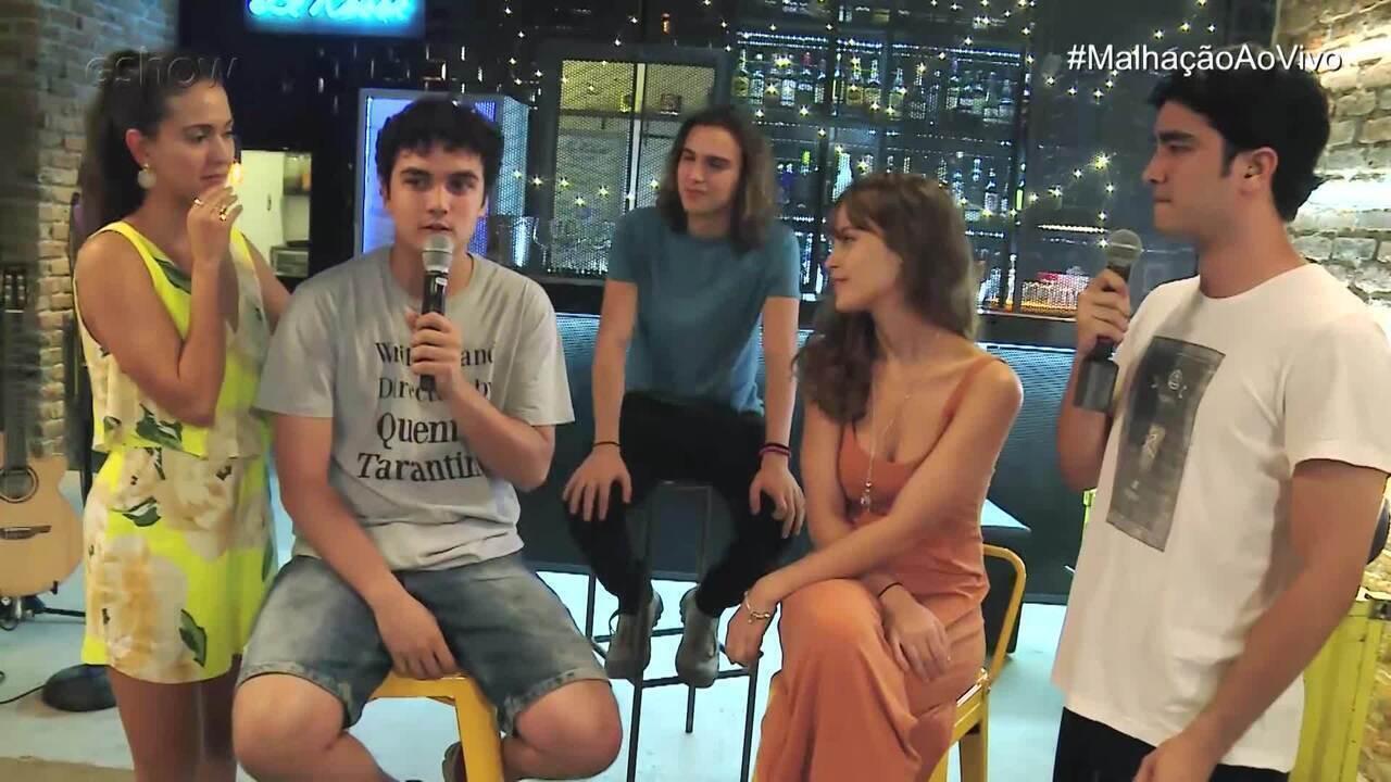 Gabriel Contente e Tom Karabachian falam como é a troca com atores mais experientes
