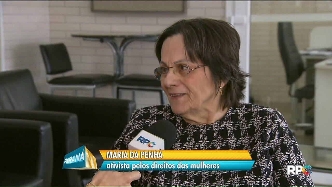 Maria da Penha está em Curitiba para lançar o Pró-Mulher