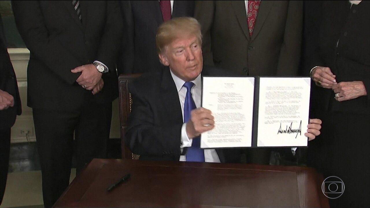 Trump anuncia tarifas contra a China e suspende sobretaxa ao aço do Brasil e parceiros