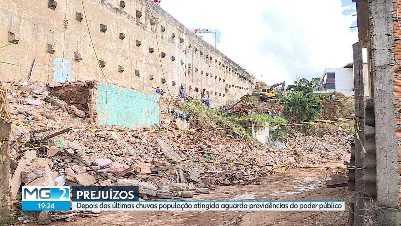 Moradores de BH e Região Metropolitana seguem enfrentando problemas causados pela chuva