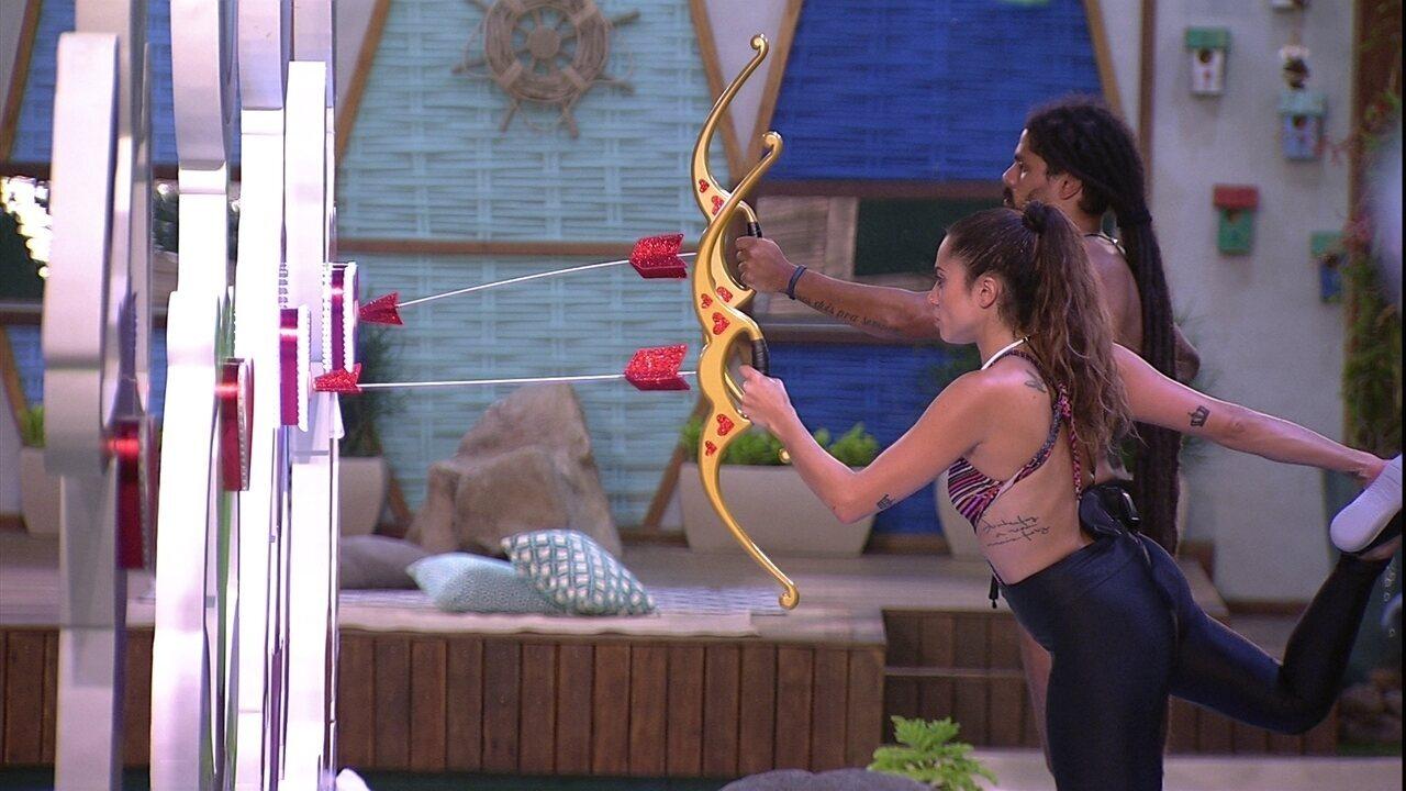 Paula e Viegas disputam em silêncio após mais de dez horas de Prova do Anjo
