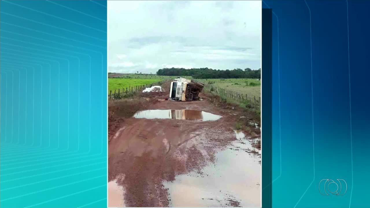 Escoamento da safra de soja está comprometido por causa das más condições das estradas