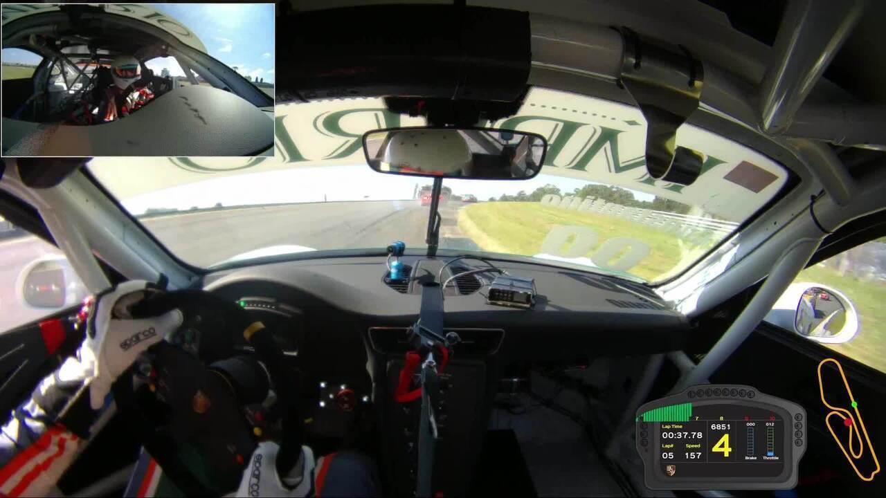 Câmera onboard no carro de Constantino Jr. mostra capotagem de Edu Azevedo