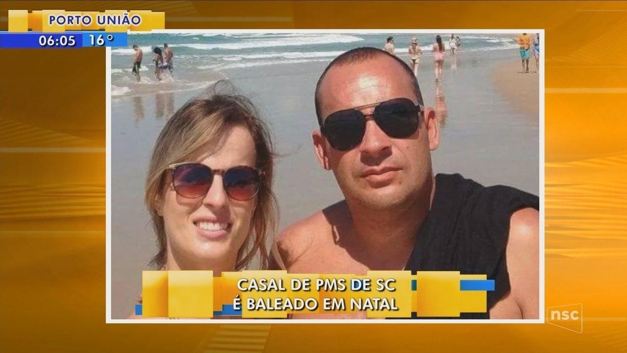 Durante férias em Natal, casal de PMs de SC é baleado em assalto
