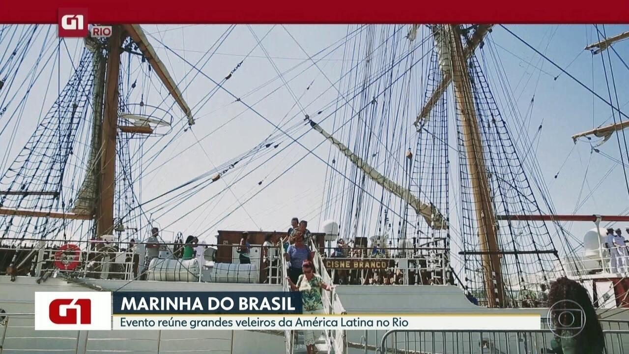 G1 no Bom Dia Rio: Evento na Marinha do Brasil reúne grandes veleiros da América Latina
