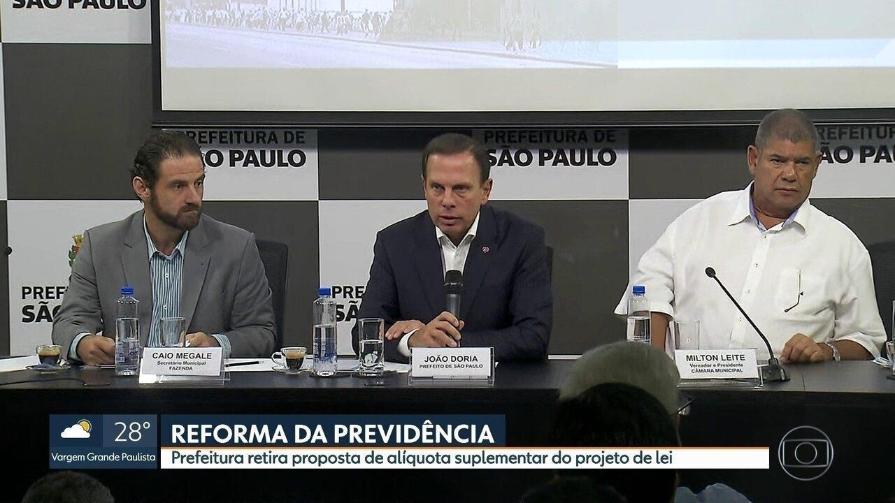 Prefeitura retira proposta de alíquota suplementar do projeto da Reforma da Previdência