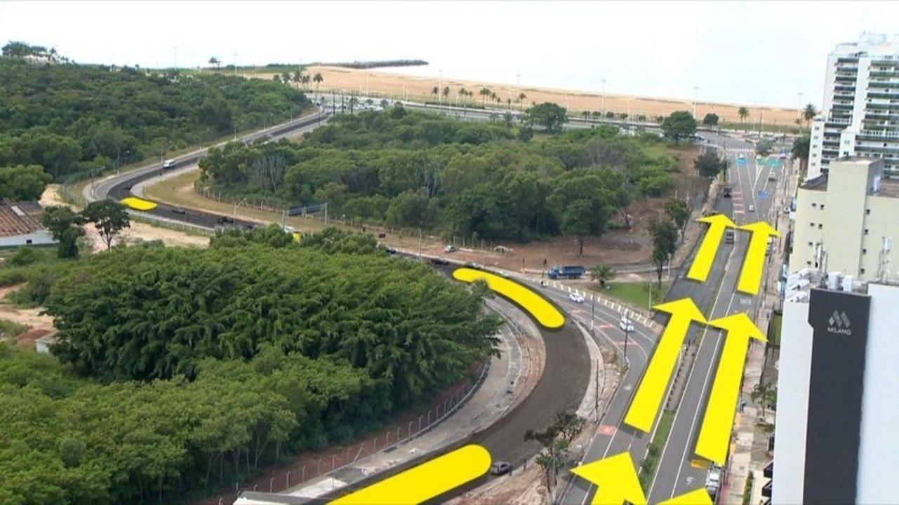 Entenda a mudança do trânsito na avenida Adalberto Simão Nader para a inauguração do novo aeroporto de Vitória