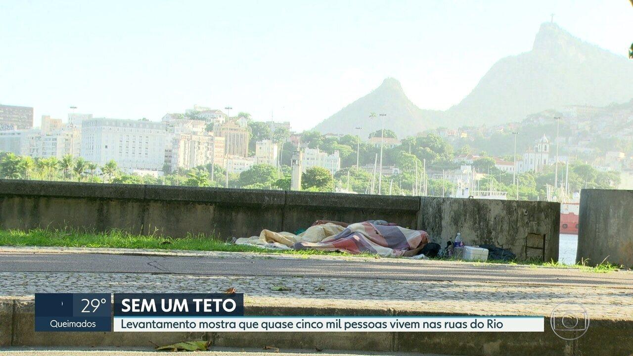 Quase cinco mil pessoas não têm onde morar no Rio