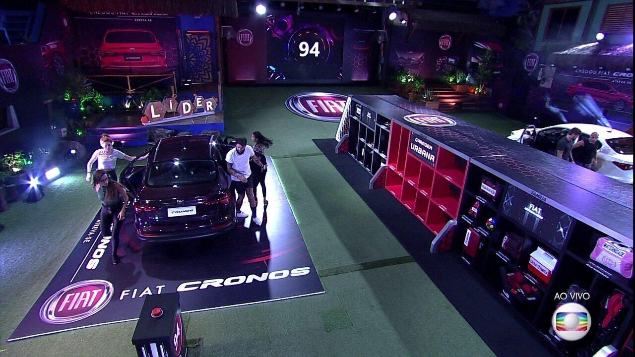 Brothers começam nova rodada de teste de Prova do Líder Fiat Cronos na Bagagem