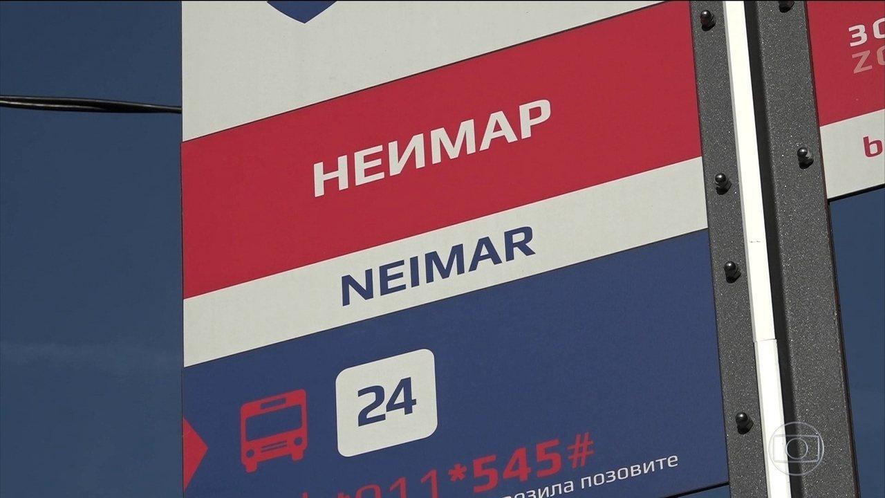 Bairro na Sérvia, Neimar é apenas mera coincidência com craque brasileiro