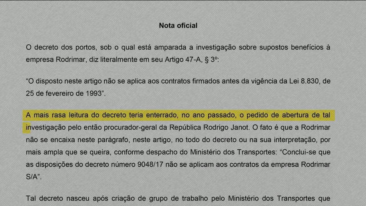 Palácio do Planalto divulga nota em que defende Temer