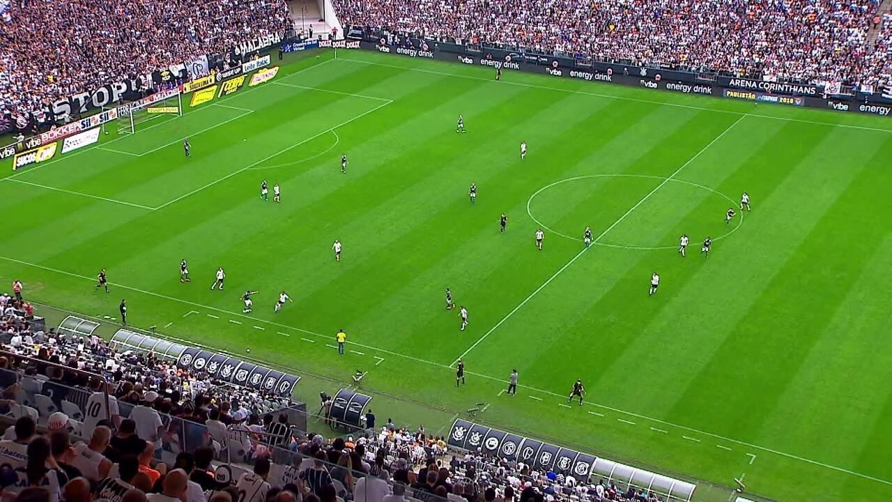 Impedimento mal marcado contra o Palmeiras em final contra o Corinthians