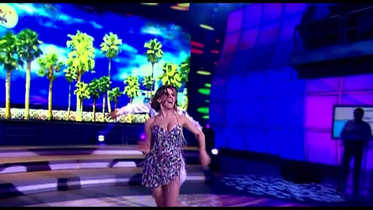 Bárbara Paz lembra sua participação no Dança dos Famosos no Domingão!