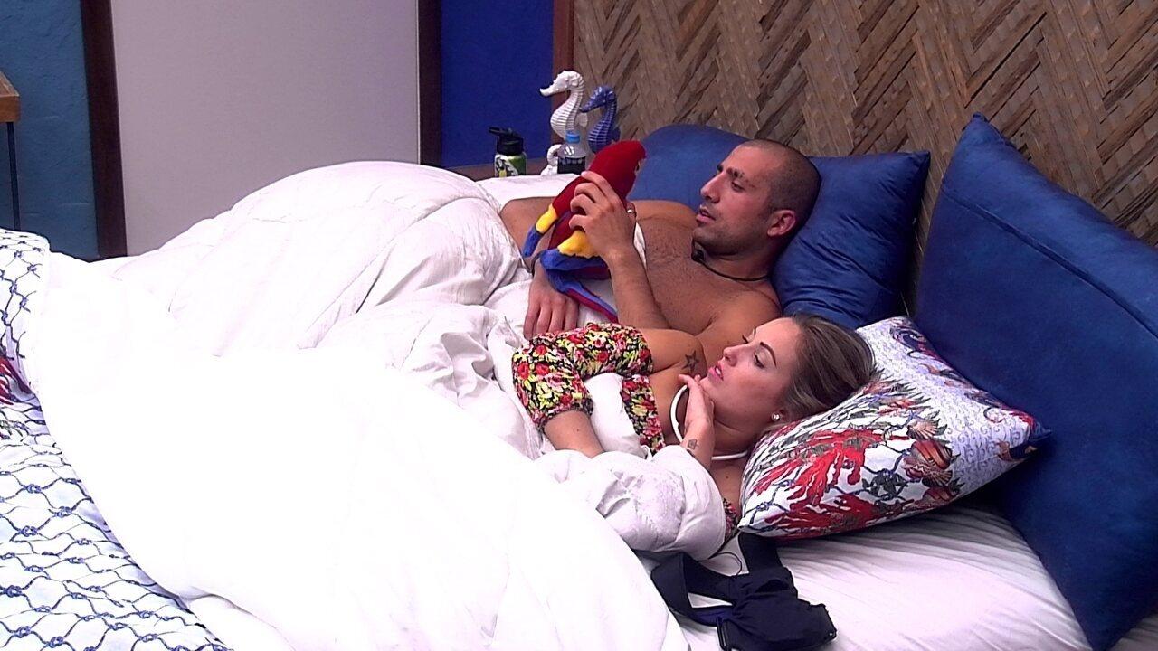 Jéssica para Kaysar: 'Gosto de dormir na sua companhia'