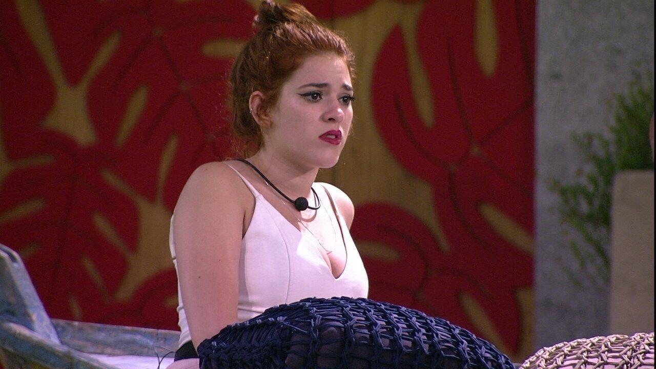 Ana Clara afirma que só irá falar com Jéssica se sister dirigir palavra a ela