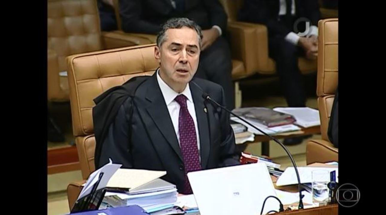 Ministro Luís Roberto Barroso vota por negar habeas corpus ao ex-presidente Lula