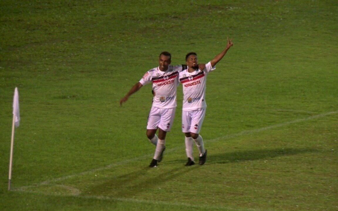 Eduardo decide clássico, e River-PI larga na frente do Piauí na semifinal do Piauiense