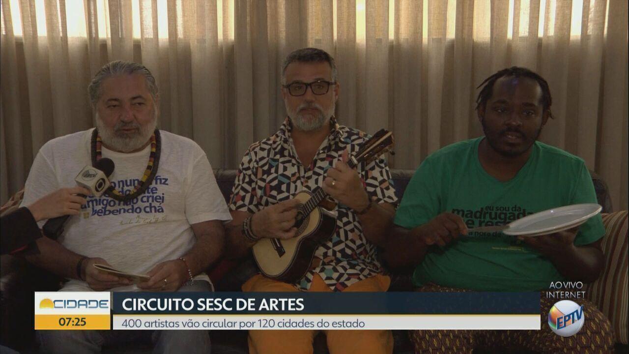 Circuito Sesc de Artes passa por 11 cidades da região; confira a programação