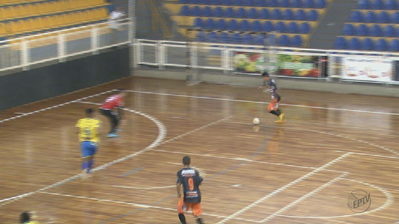 Confira os gols e resultados da rodada da Taça EPTV de Futsal de quinta-feira
