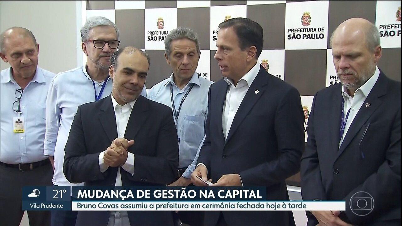 João Doria deixa a prefeitura de São Paulo nesta sexta (6) e vice Bruno Covas assume