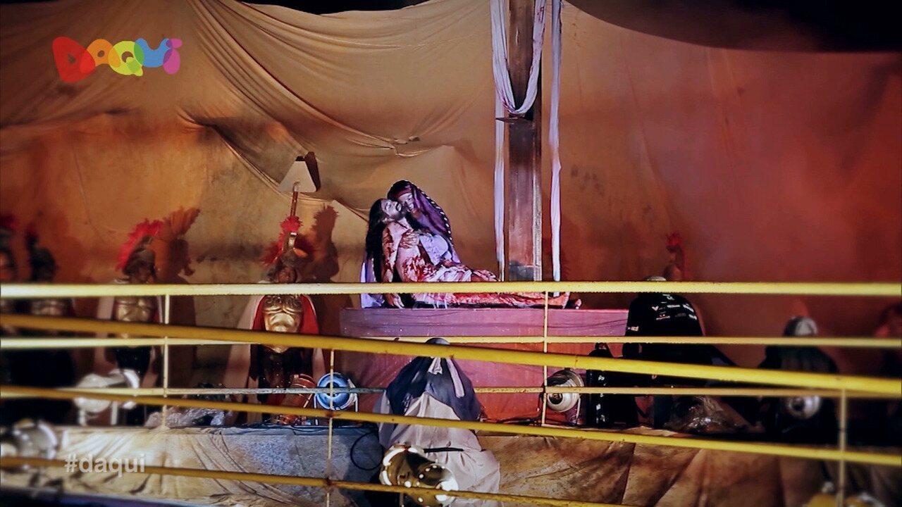 Espetáculo da Via Sacra no Anjo da Guarda foi destaque no Daqui
