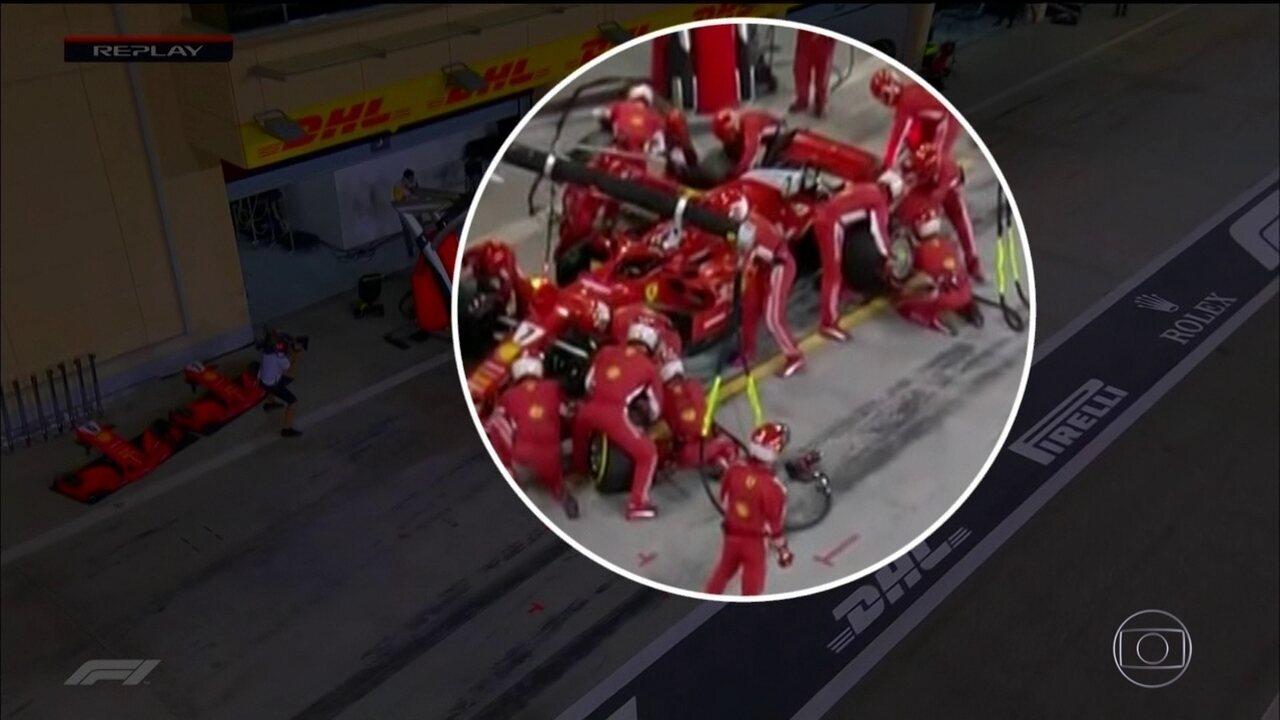 Confira em detalhe o acidente no pit stop da Ferrari