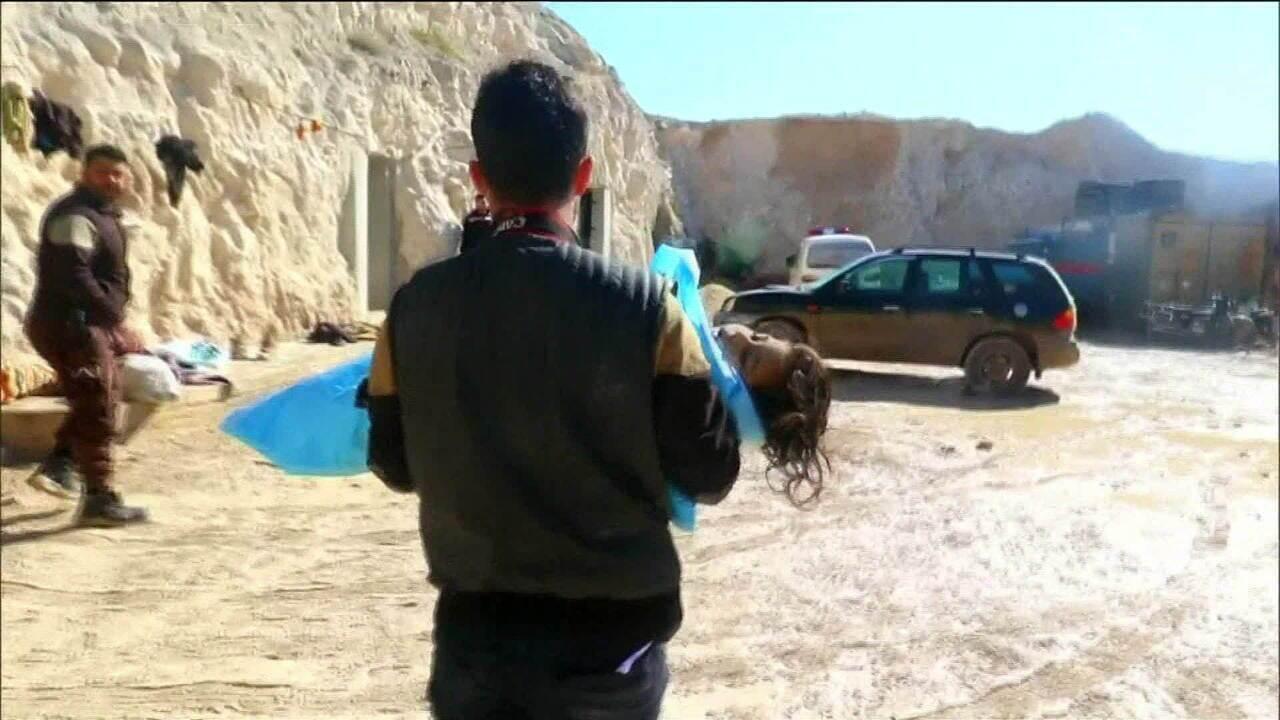 Suposto ataque químico deixa dezenas de mortos na Síria