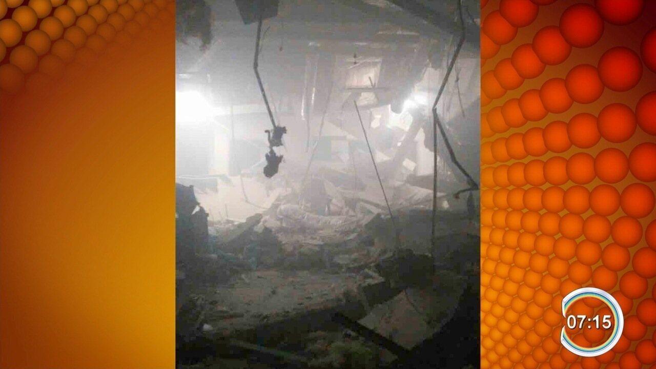 Quadrilha bloqueia ruas e explode banco na região central de Caçapava