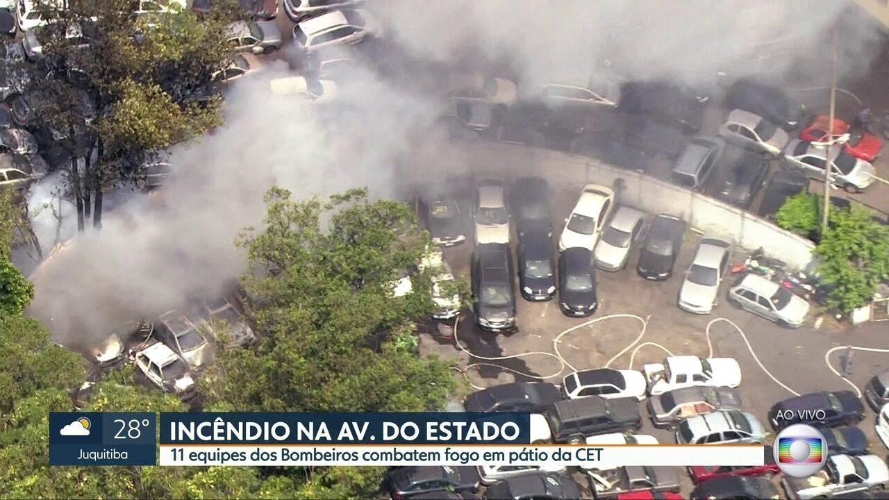 Incêndio destrói fábrica e causa estragos em residência