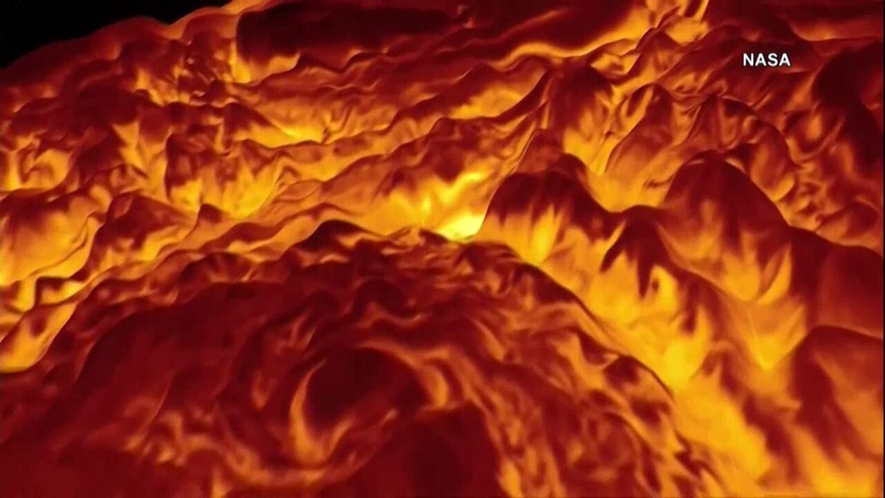 Simulação da superfície de Júpiter mostra tempestade no polo norte do planeta