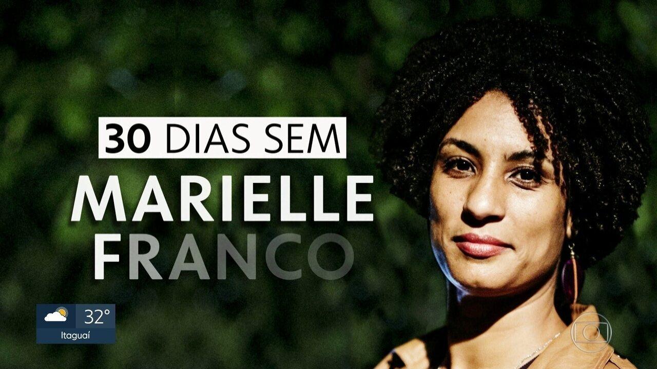 Assassinato de Marielle Franco e Anderson Gomes completa um mês e ainda não há suspeitos do crime