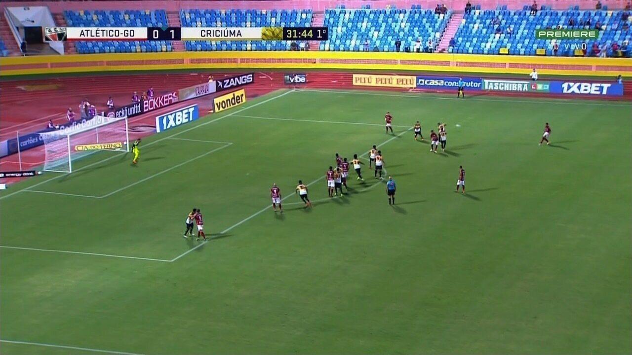 Os melhores momentos de Atlético-GO 3x2 Criciúma pela Série B