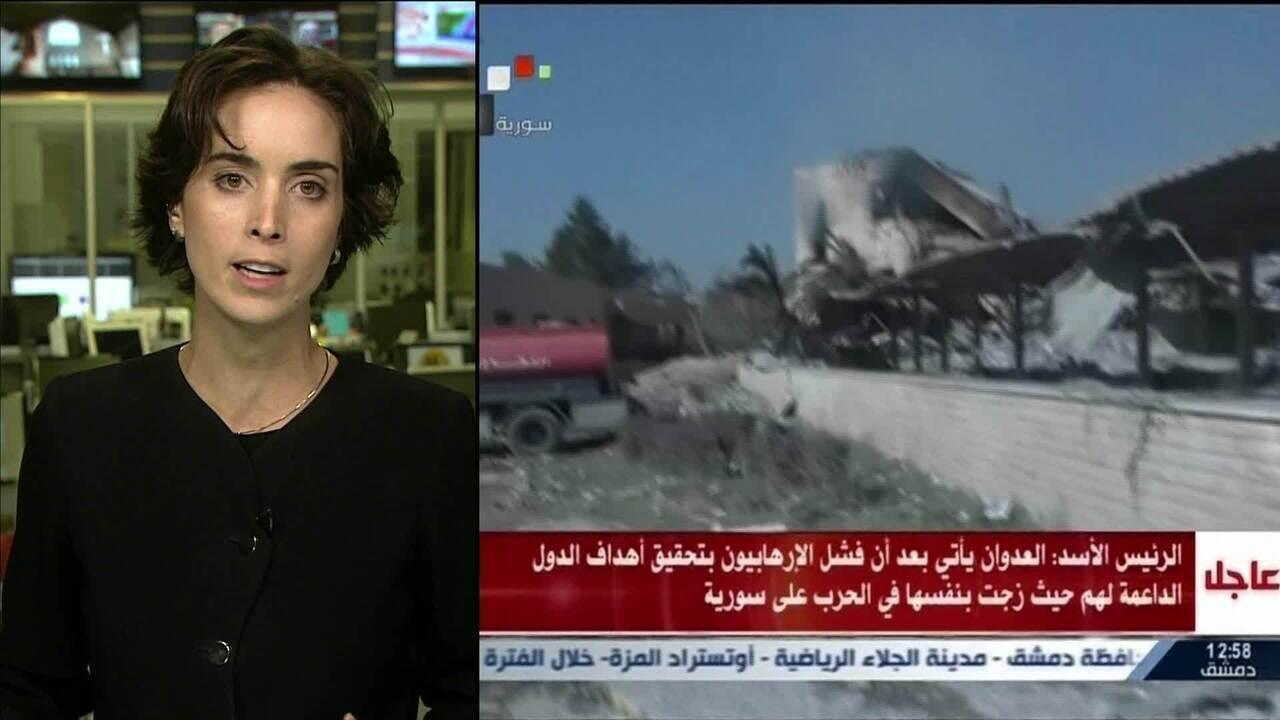 Sírios e aliados condenam ataques dos EUA