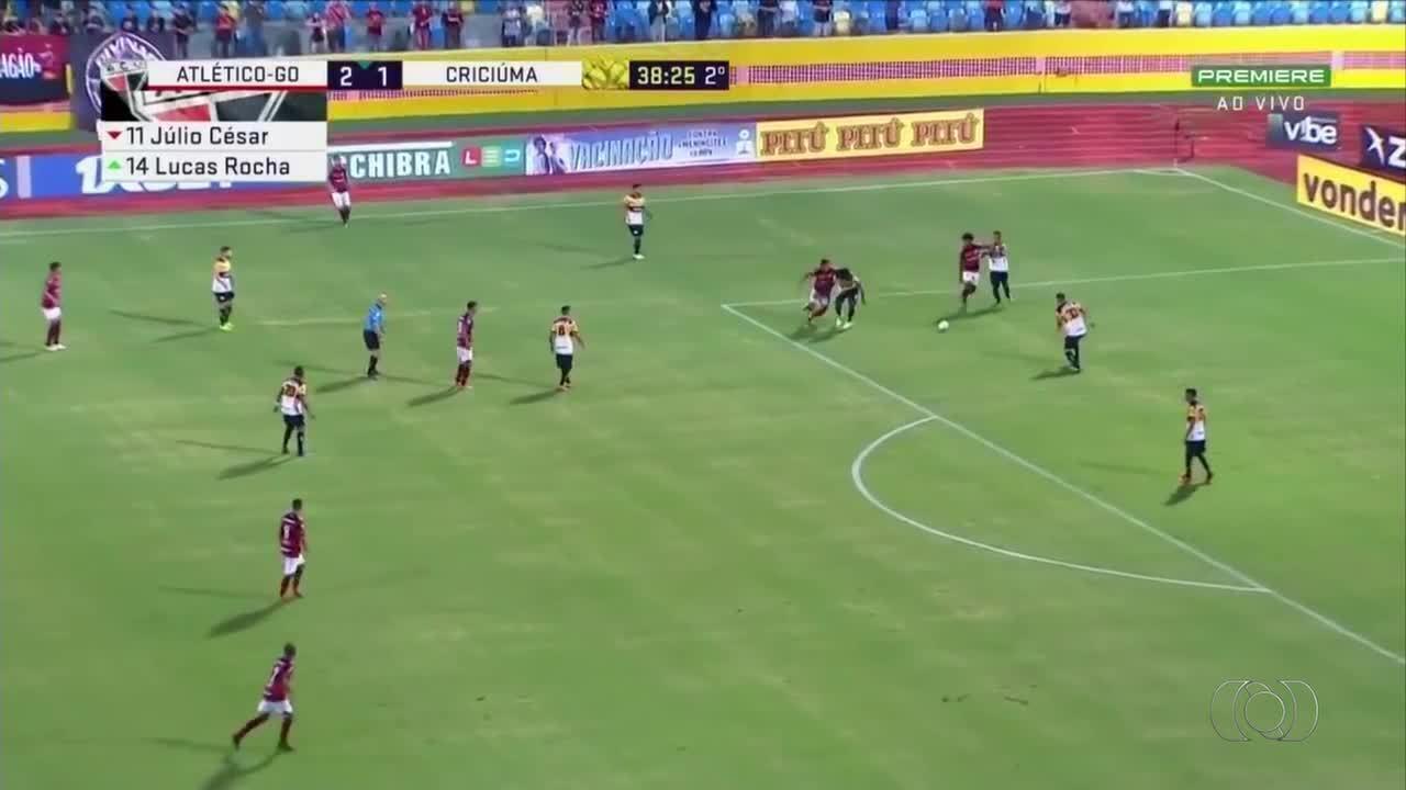 Tomas Bastos marca na vitória do Atlético-GO diante do Criciúma pela Série B