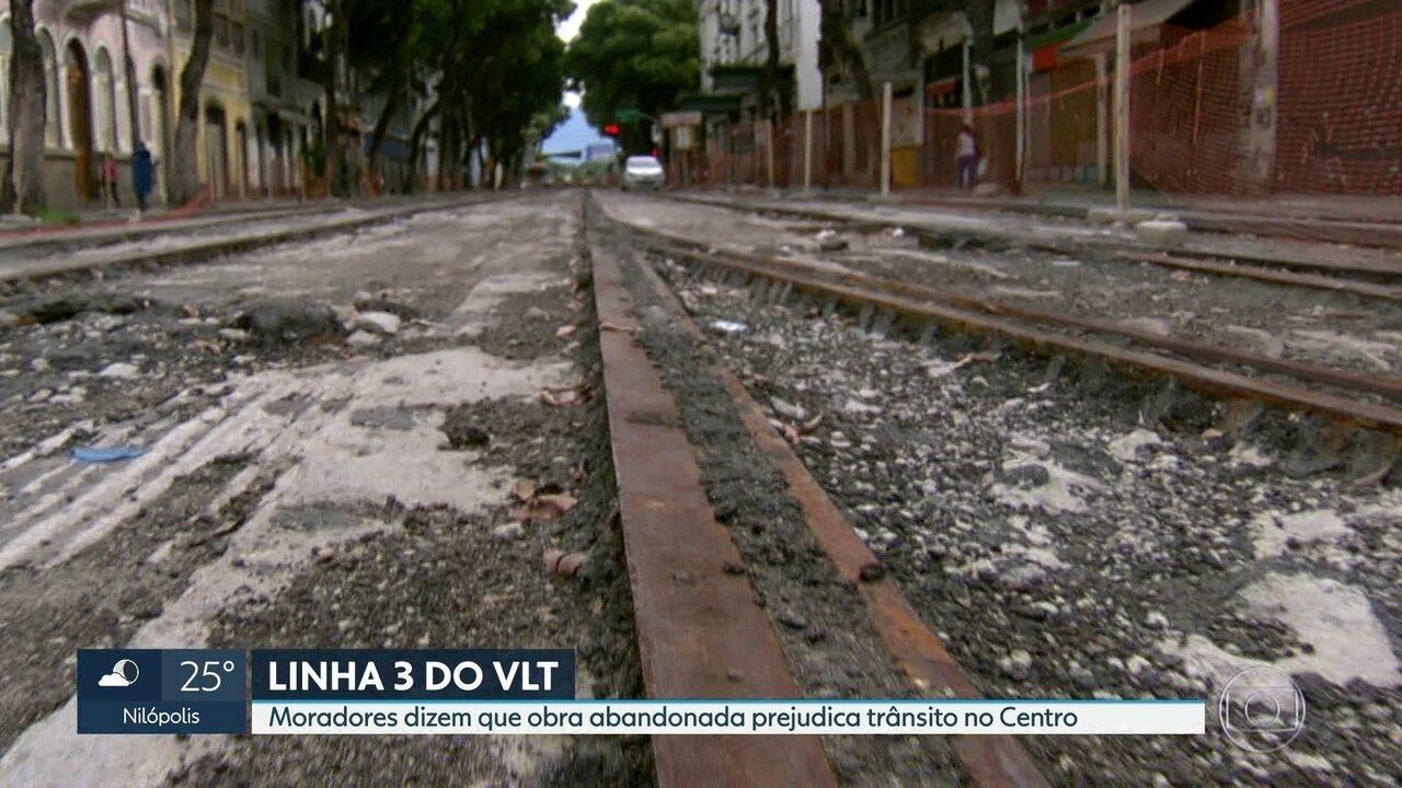 Obra da Linha 3 do VLT está abandonada