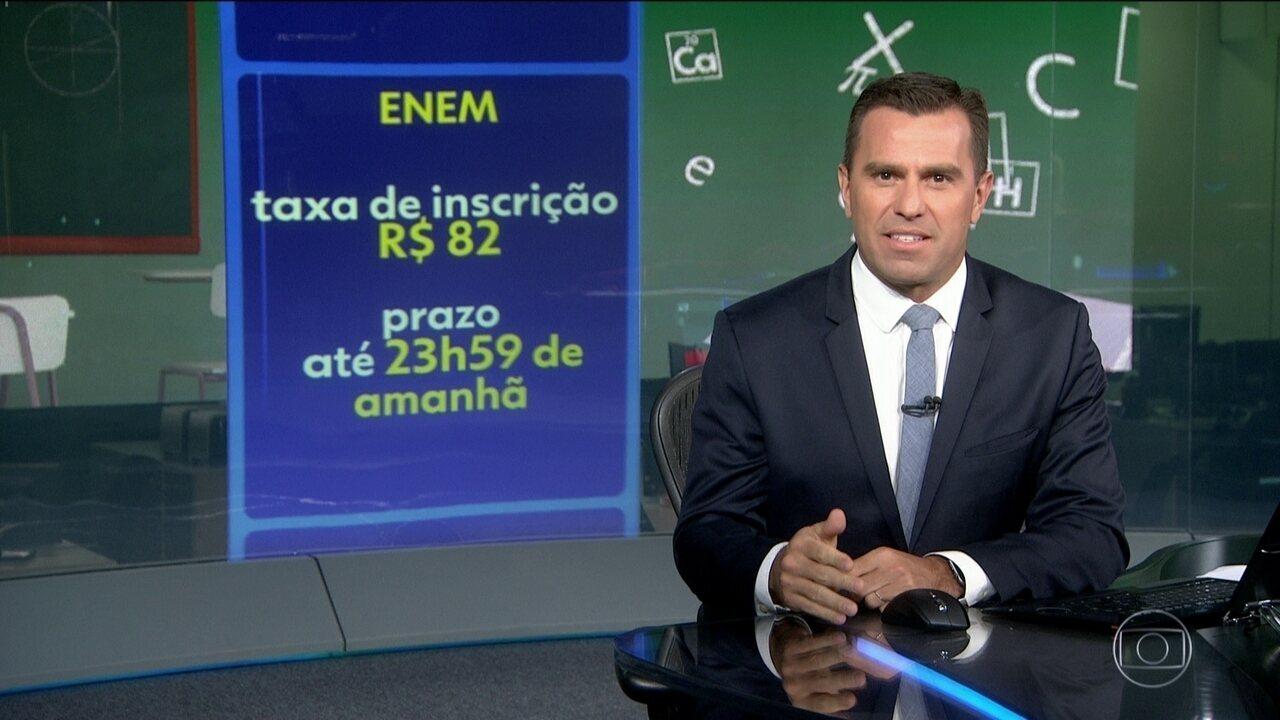 Acaba neste domingo prazo para pedir isenção da inscrição do ENEM