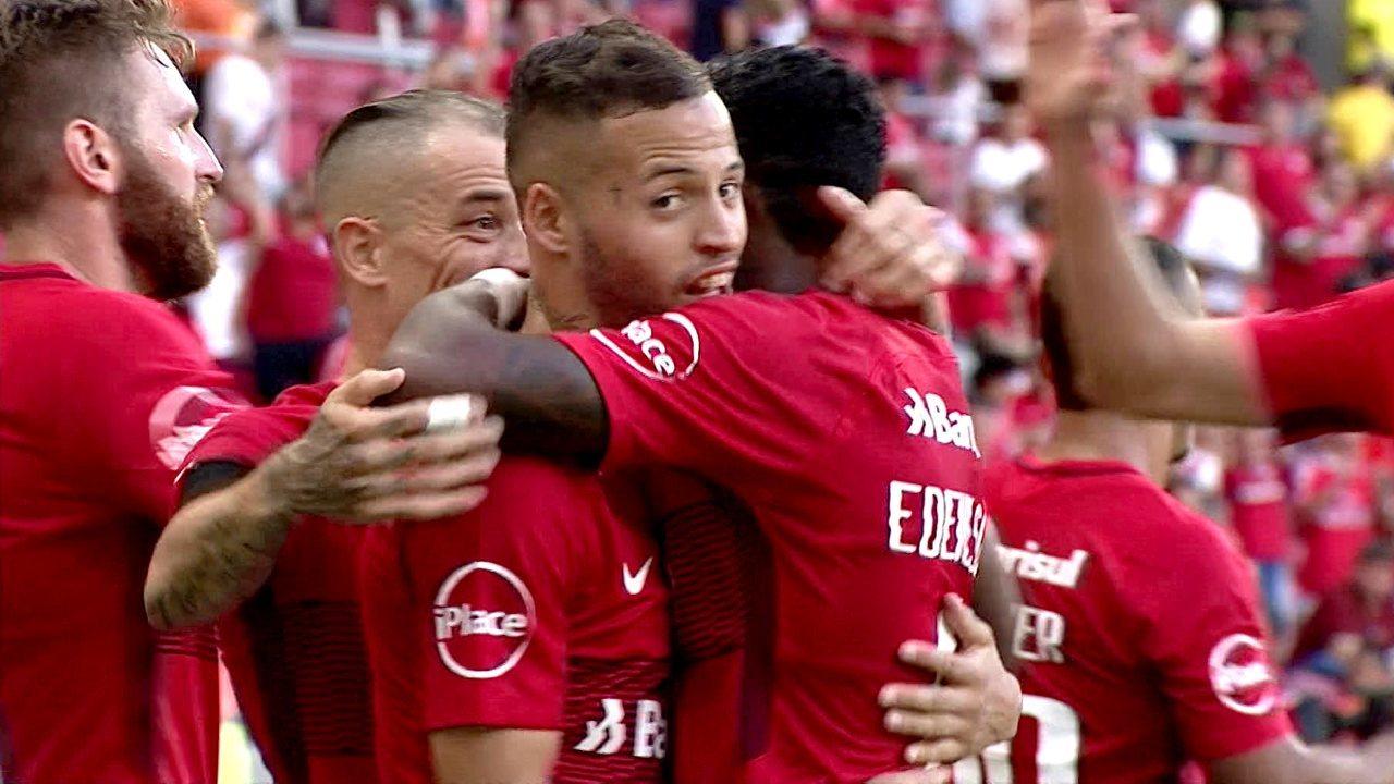 Melhores momentos de Internacional 2 x 0 Bahia pela 1ª rodada do Brasileirão 2018