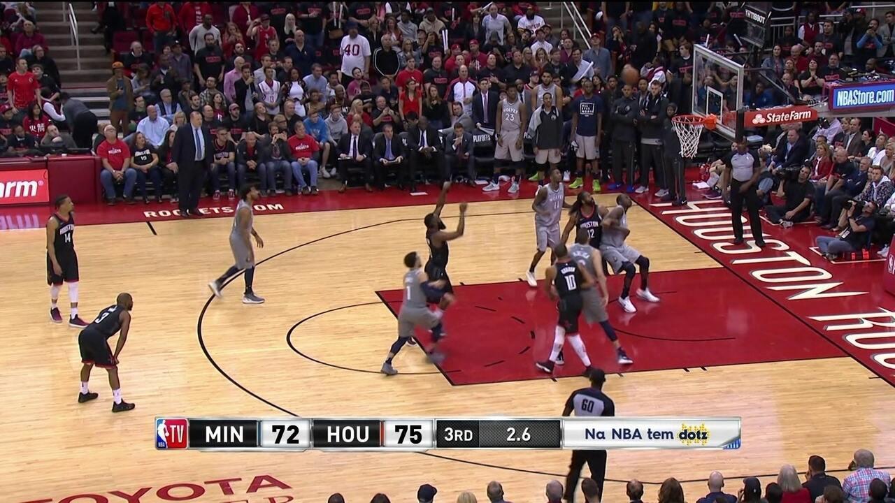 Melhores momentos: Minnesota Timberwolves 101 x 104 Houston Rockets pela NBA