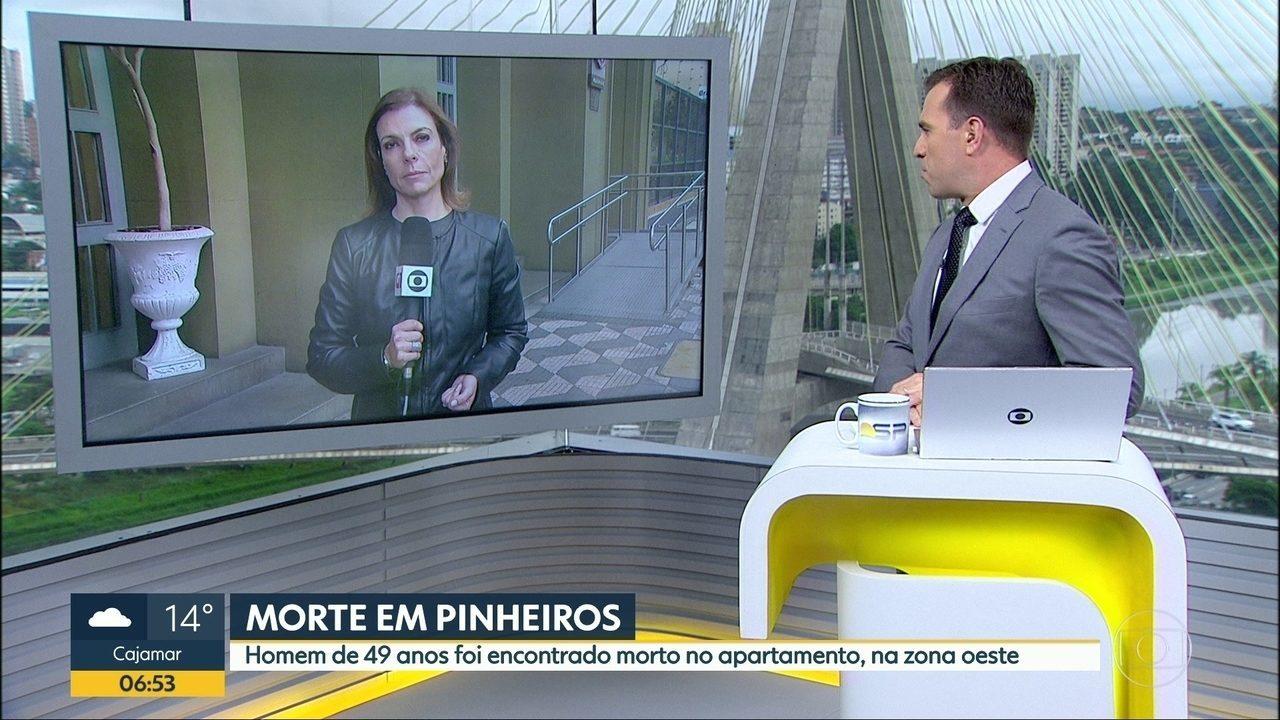 Homem é encontrado morto em apartamento de Pinheiros