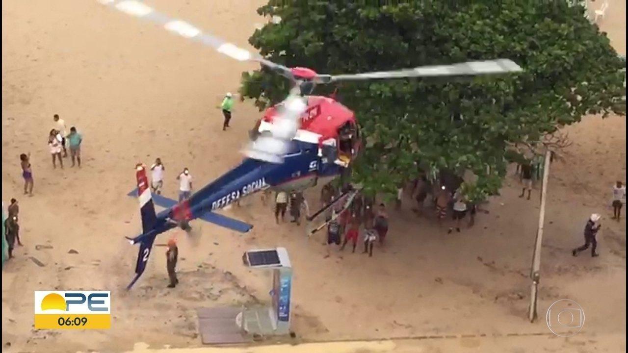 Bombeiros reforçam alerta sobre áreas de ataque de tubarão após acidente em Jaboatão